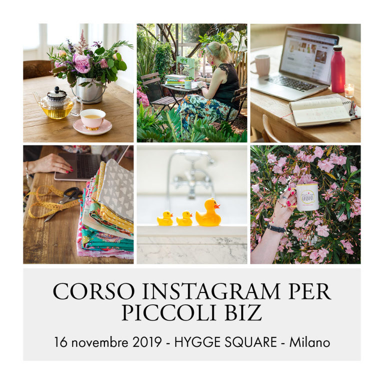 corso instagram per piccole imprese